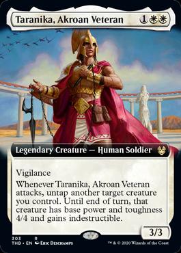 【Foil】■拡張アート■《アクロスの古参兵、タラニカ/Taranika, Akroan Veteran》[THB-BF] 白R