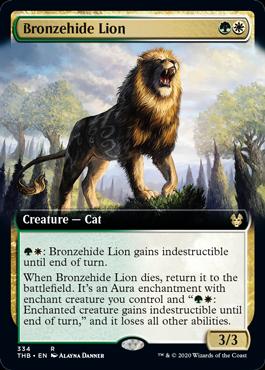 ■拡張アート■《青銅皮ライオン/Bronzehide Lion》[THB-BF] 金R