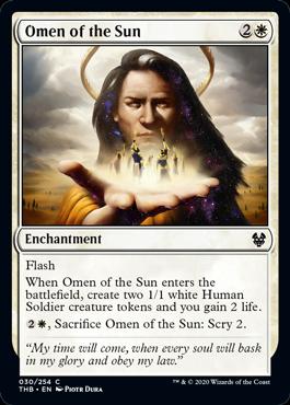 《太陽の神のお告げ/Omen of the Sun》[THB] 白C