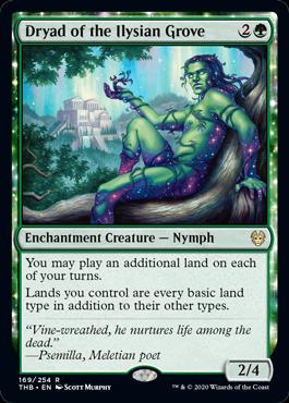《イリーシア木立のドライアド/Dryad of the Ilysian Grove》[THB] 緑R
