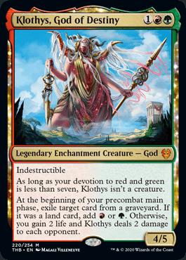 《運命の神、クローティス/Klothys, God of Destiny》[THB] 金R
