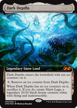 【Foil】《暗黒の深部/Dark Depths》[UBT] 土地