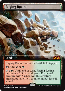 【Foil】《怒り狂う山峡/Raging Ravine》[UBT] 土地