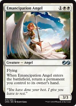 【Foil】《解放の天使/Emancipation Angel》[UMA] 白U