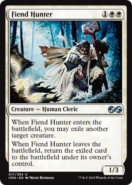 《悪鬼の狩人/Fiend Hunter》[UMA] 白U
