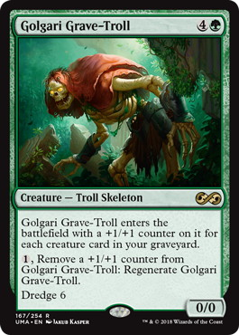 《ゴルガリの墓トロール/Golgari Grave-Troll》[UMA] 緑R