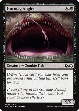 《グルマグのアンコウ/Gurmag Angler》[UMA] 黒C