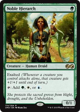 《貴族の教主/Noble Hierarch》[UMA] 緑R