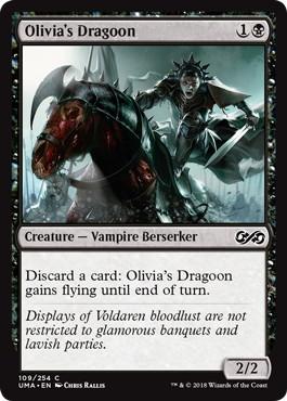 《オリヴィアの竜騎兵/Olivia's Dragoon》[UMA] 黒C