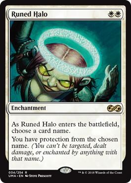 【Foil】《ルーンの光輪/Runed Halo》[UMA] 白R