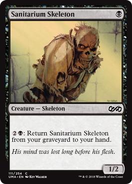 【Foil】《療養所の骸骨/Sanitarium Skeleton》[UMA] 黒C