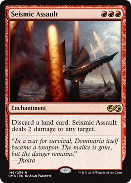 《突撃の地鳴り/Seismic Assault》[UMA] 赤R
