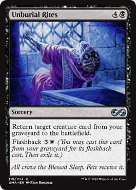 【Foil】《掘葬の儀式/Unburial Rites》[UMA] 黒U