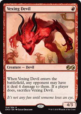 《苛立たしい小悪魔/Vexing Devil》[UMA] 赤R