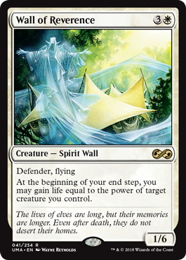 【Foil】《崇敬の壁/Wall of Reverence》[UMA] 白R