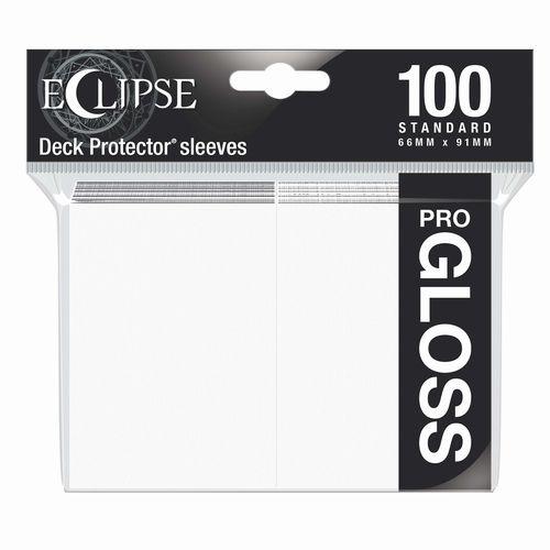 ウルトラ・プロ デッキプロテクタースリーブ ECLIPSE GLOSS (アークティックホワイト) 100枚入り