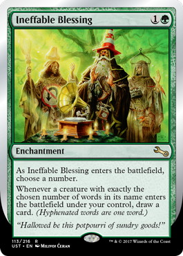 【Foil】《Ineffable Blessing》(choose a number) [UST] 緑R