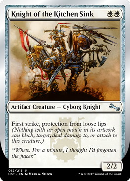 【Foil】《Knight of the Kitchen Sink》(loose lips) [UST] 白U