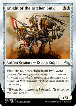 【Foil】《Knight of the Kitchen Sink》(two-word names ) [UST] 白U