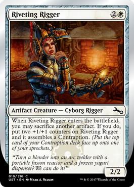 【Foil】《Riveting Rigger》[UST] 白C
