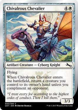 【Foil】《Chivalrous Chevalier》[UST] 白C