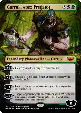 【Foil】《頂点捕食者、ガラク/Garruk, Apex Predator》[MED-WAR]金