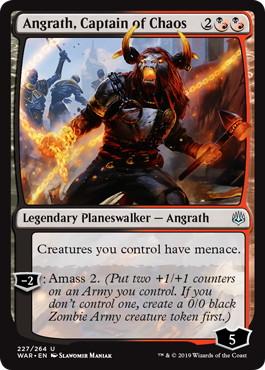《混沌の船長、アングラス/Angrath, Captain of Chaos》[WAR] 混U