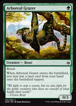 《樹上の草食獣/Arboreal Grazer》[WAR] 緑C