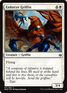 【Foil】《執行官のグリフィン/Enforcer Griffin》[WAR] 白C