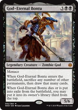 《永遠神バントゥ/God-Eternal Bontu》[WAR] 黒R
