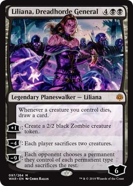 《戦慄衆の将軍、リリアナ/Liliana, Dreadhorde General》[WAR] 黒R
