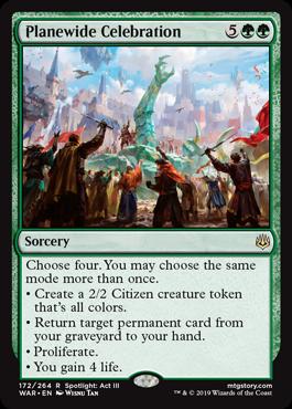 《次元を挙げた祝賀/Planewide Celebration》[WAR] 緑R