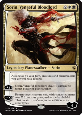《復讐に燃えた血王、ソリン/Sorin, Vengeful Bloodlord》[WAR] 金R