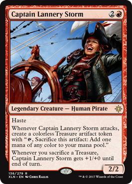 《風雲船長ラネリー/Captain Lannery Storm》[XLN] 赤R
