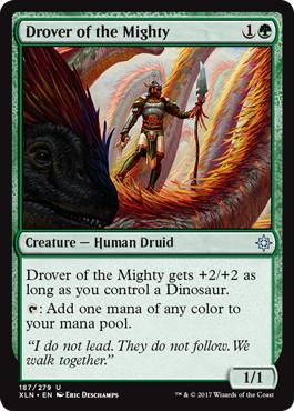 《大物群れの操り手/Drover of the Mighty》[XLN] 緑U