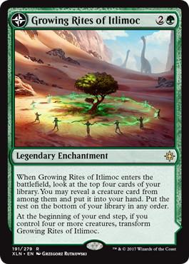 《イトリモクの成長儀式/Growing Rites of Itlimoc》/《太陽の揺籃の地、イトリモク/Itlimoc, Cradle of the Sun》[XLN] 緑R
