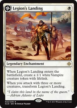 《軍団の上陸/Legion's Landing》/《一番砦、アダント/Adanto, the First Fort》[XLN] 白R
