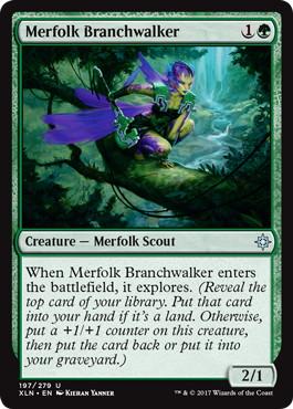 《マーフォークの枝渡り/Merfolk Branchwalker》[XLN] 緑U