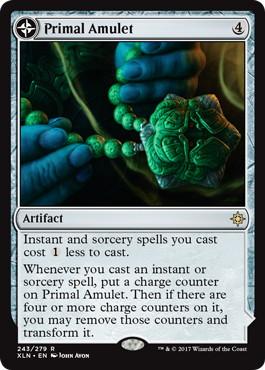 《原初の呪物/Primal Amulet》/《原初の水源/Primal Wellspring》[XLN] 茶R