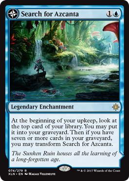 《アズカンタの探索/Search for Azcanta》/《水没遺跡、アズカンタ/Azcanta, the Sunken Ruin》[XLN] 青R