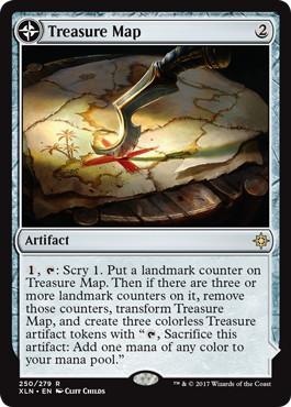 《宝物の地図/Treasure Map》/《宝物の入り江/Treasure Cove》[XLN] 茶R