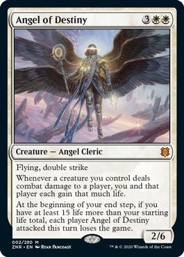 《運命の天使/Angel of Destiny》[ZNR] 白R