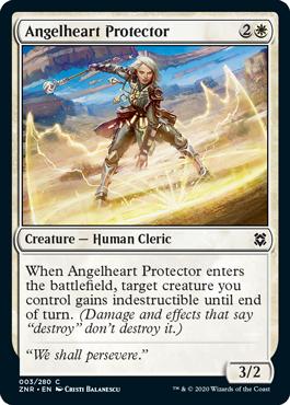 《天使心の守護者/Angelheart Protector》[ZNR] 白C