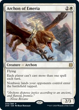 《エメリアのアルコン/Archon of Emeria》[ZNR] 白R