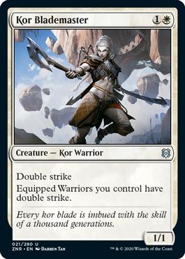 《コーの刃使い/Kor Blademaster》[ZNR] 白U