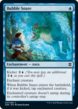 《泡の罠/Bubble Snare》[ZNR] 青C
