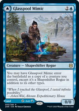 《玻璃池のミミック/Glasspool Mimic》[ZNR] 青R