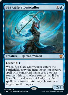 【Foil】《海門の嵐呼び/Sea Gate Stormcaller》[ZNR] 青R