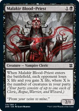 《マラキールの血僧侶/Malakir Blood-Priest》[ZNR] 黒C