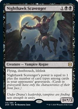 《夜鷲のあさり屋/Nighthawk Scavenger》[ZNR] 黒R